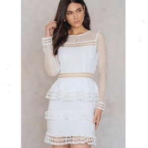 Endless Rose small white tiered lace dress